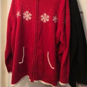 Quacker Factory zip sweater